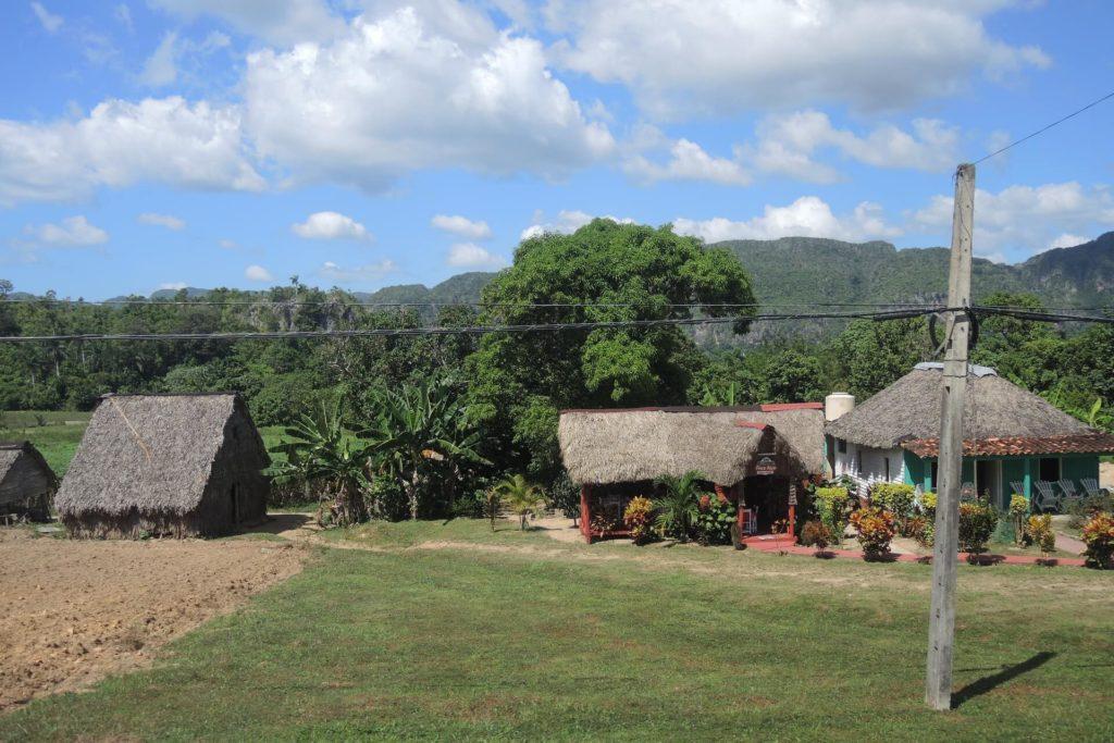Sehenswürdigkeiten Kuba - Vinales Tal Tabakanbau Strohhütten