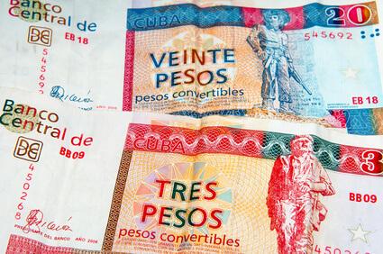 Kuba Peso Convertible (CUC) - Touristenwährung